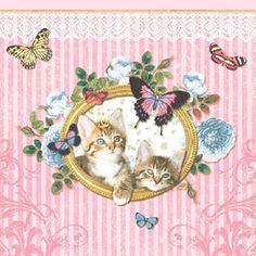 ペーパーナプキン(33)AMB:(5枚)ROYAL CATS-AM126