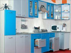 56 Trendy Kitchen Small Open Plan Home Industrial Kitchen Design, Kitchen Room Design, Contemporary Kitchen Design, Kitchen Corner, Interior Design Kitchen, Kitchen Decor, Moduler Kitchen, Corner Pantry, Smart Kitchen