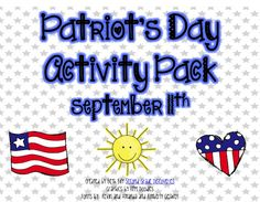 Second Grade Discoveries with Miss Bily Patriots Day Activities, Holiday Activities, Classroom Activities, Fun Activities, September Themes, September 11, 1st Grade Crafts, Word Work Stations, Kid President