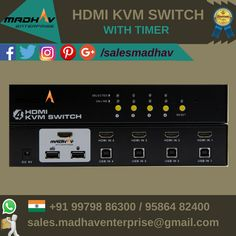 #HDMI #KVM #Switch available at #Bestprice at #MadhavEnterprise #Surat #South #Gujarat #India #Wholesale #Supplier
