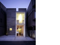 House in Miyakomachi Houses Architecture, Residential Architecture, Interior Architecture, Box Houses, Small Houses, Suppose Design Office, Different Architectural Styles, Narrow Lot House Plans, Modern Townhouse