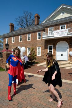 Philanthropy Day 2012's superhero theme has these Guilford College students dressing up as their favorites.