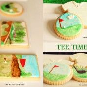 Golf Cookie Painting Tutorial from the Baked Equation