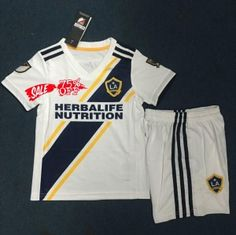 5877f857352 2019-20 Cheap Youth Kit LA Galaxy Home Replica Soccer Kids Suit 2019-20