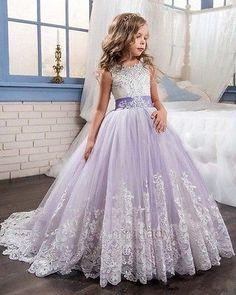 Kinder Mädchen Blumen Abendkleid Prinzessin Hochzeit Party Festkleid Ballkleider