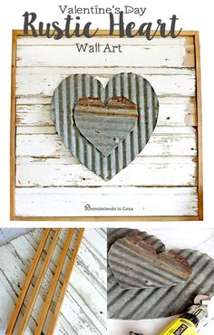 Old wood and old metal roof are the materials for this Farmhouse wall art project! #repurpose #thdprospective