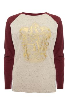 Primark - Red Harry Potter Raglan Top