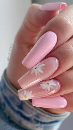 Acrylic Nails Coffin Short, Simple Acrylic Nails, Summer Acrylic Nails, Best Acrylic Nails, Simple Nails, Spring Nails, Summer Nails, Pink Coffin, Acrylic Nails With Design