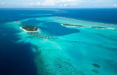 BIRDS EYE VIEW OF CONRAD MALDIVES RANGALI