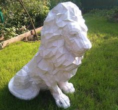 Animal Paper Model - Lion Ver.5 Free Template Download - http://www.papercraftsquare.com/animal-paper-model-lion-ver-5-free-template-download.html#AnimalPaperModel, #Lion