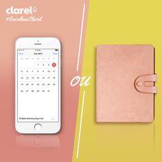 #EscolhasClarel Para se organizar no dia a dia: agenda ou organizador digital?