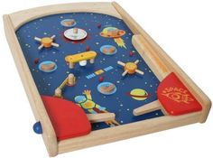 I´M Toy Space Pinball, hochwertiger Holzflipper,Flipper für Kinder, | 1166 / EAN:8850714070101