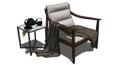 Visualização grande do modelo 3D de chair-cloth