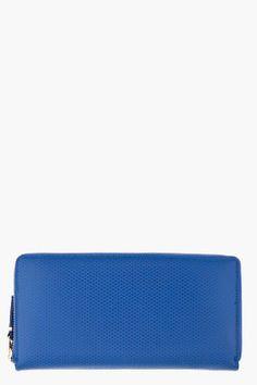 COMME DES GARÇONS WALLETS Long Blue Leather Wallet