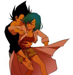 Bulma and Vegeta Goku And Bulma, Dbz Vegeta, Dragon Ball Z, Goku Pics, Dragon Images, Chibi, Shadow Art, Kawaii, Anime Manga
