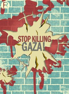 This poster is for Gaza protest