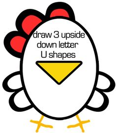 Step 41 Easiest Chicken or Rooster to Draw Ever   Great for Preschoolers & Young Kids
