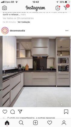 Modern Kitchen Cabinets, Kitchen Remodel Design, Kitchen Cupboard Designs, Home Decor Kitchen, Kitchen Room Design, Kitchen Interior, Interior Design Kitchen, Interior Design Kitchen Small, Kitchen Furniture Design