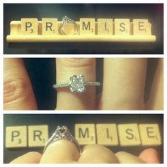 How do you give a girl a promise ring