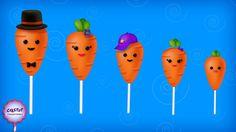 The Finger Family Carrot Cake Pop Family Nursery Rhyme Baby Finger Song, Finger Rhymes, Sister Finger, Mommy Finger, Finger Family Rhymes, Family Songs, Kids Songs, Finger Family Collection, Kids Nursery Rhymes