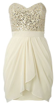 Lipsy VIP Sequin Bust Dress