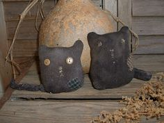 Daughternature Primitive Folk Art: Sock Cats, Scrap Dolls, Aged Pears, etc....