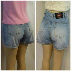 "L.E.I. High Waist Denim Light Wash Shorts size 7 L.E.I. High Waist, Denim, Light Wash, Shorts, size 7, exposed logo button on waistband closure above zipper, extra whitewash on back pockets through upper back thighs and on front thighs,  machine washable,  100% cotton,  14 1/2"" length waistband to hem, 13"" waist laying flat, 3 1/2""  inseam, 9"" length waistband to bottom of zipper L.E.I. Shorts Jean Shorts"