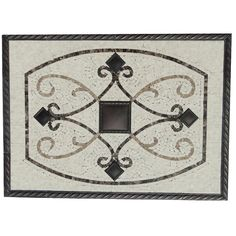 Check out the deal on Maicon Framed Medallion - Oil Rubbed Bronze - FRPB-CM-DE-DE-LE at GBTile Collections