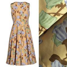 Prada Couture Collection dress floral SZ 6 Silk/taffeta tulle lined dress SZ 6 Prada Dresses Midi