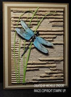 Image result for masculine birthday cards with Stampin Up dragon fly