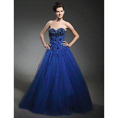 Ball Gown Sweetheart Floor-length Taffeta Tulle Prom Dress – USD $ 64.99