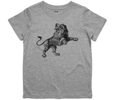 El Cheapo African Lion Youth Grey Marle T-Shirt