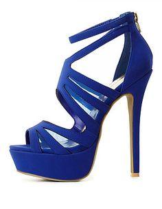 Stappy Mesh Platform Heels: Charlotte Russe