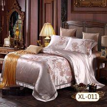 Пряжа - окрашенный жаккард постельные принадлежности комплект 4 шт 100% шелковицы толстый шелк широкий 22 m / m(China (Mainland))