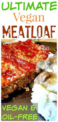- Vegan Meat Loaf I absolutely LOVE this home-style vegan meatloaf that reminds me of my childhood, especially when it's paired with mashed potatoes and gravy. A couple of the secret ingredients are bulgur and crushed walnuts. Vegan Meatloaf, How To Cook Meatloaf, Meatloaf Recipes, Vegan Dinner Recipes, Vegan Dinners, Whole Food Recipes, Diet Recipes, Vegetarian Recipes, Meat Loaf