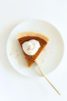 THE BEST Vegan Gluten Free Pumpkin Pie! 10 ingredients, simple methods, SO flavorful and delicious