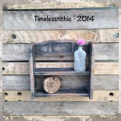 Wall Shelf  Rustic Home Decor  Primitives Country by TimelessNchic, $17.95 #rustic #homedecor #interior #walldecor #wallshelf #bathroomshelf #spicerack #vintage #woodland #farmhouse #country #cottage #black #frenchcountry #distressed #repurpose #upcycle #etsy #timelessnchic #nailpolishrack
