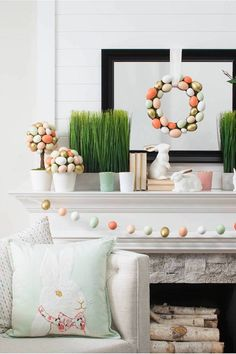 Target is always a must stop for fun, trendy, and inexpensive decor. We LOVE scavenging their dollar and up section for extra savings. Easter Crafts, Easter Décor, Happy Easter, Easter Ideas, April Easter, Easter 2020, Easter Brunch, Easter Garland, Home Living