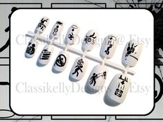 Portal 2 Warning Signs Nail Set by ClassikellyDesigns on Etsy