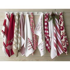12 Days of Christmas Dishtowel in Christmas Entertaining   Crate and Barrel