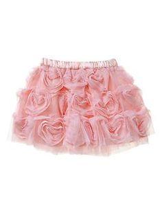 Heart-shaped tulle skirt | Gap