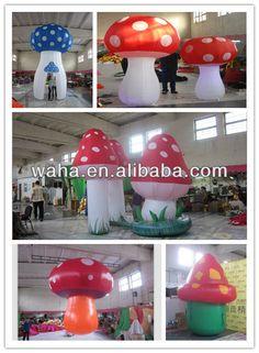 decorative inflatable mushroom for event decodration