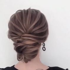 Front Hair Styles, Curly Hair Styles, Shoulder Length Hair Updos, Medium Length Hair With Layers, Brown Hair Shades, Hair Upstyles, Beautiful Hairstyles, Hair Transformation, Professional Hairstyles