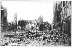 Ruins of Ypres Market Square