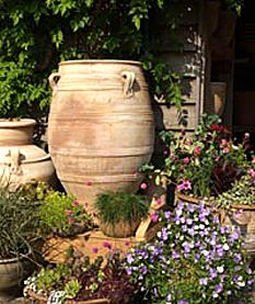 Garden Urn Pot In Terracotta   Mediterranean Look