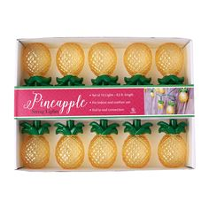 Pineapple String Lights. I got these for my birthday and they are the cutest…