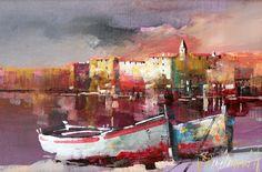 Branko Dimitrijevic, Evening Light, Oil on canvas, 20x30cm