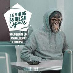 Nairone - Le singe fume sa cigarette