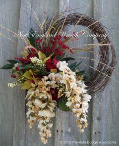 Victorian Woodland Splendor Wreath by NewEnglandWreath