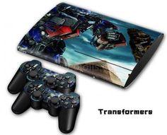 Autocollant skin PS3 Slim 4000 - Transformers